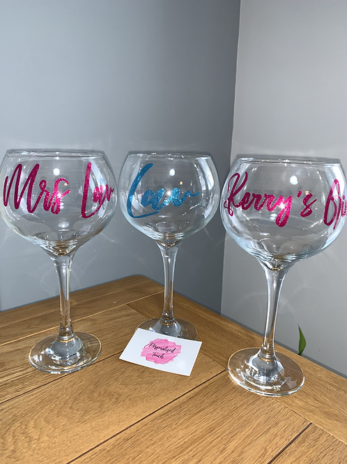 Personalised Gin/Vodka Balloon Alcohol Glasses