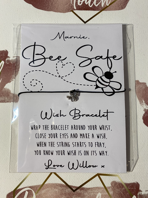 Personalised Bee Safe charm bracelet - PLEASE READ DESCRIPTION!
