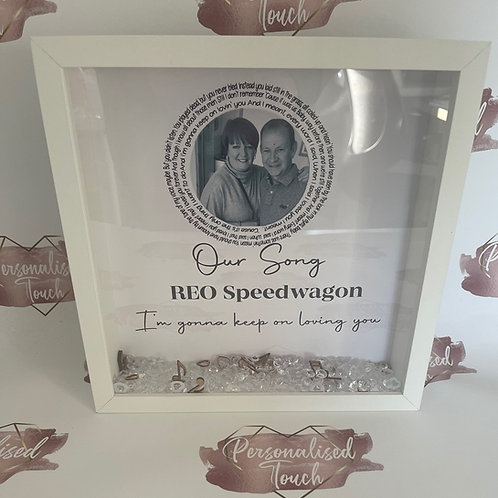 Our song personalised frame