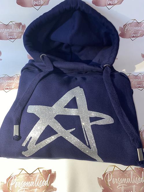 Personalised cowl neck hoodie