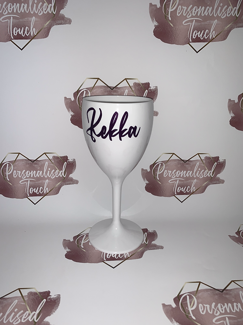Personalised White Wine Glass