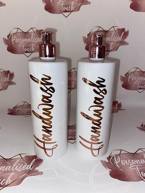 Gorgeous High Shine Rose Gold Pump Bottles