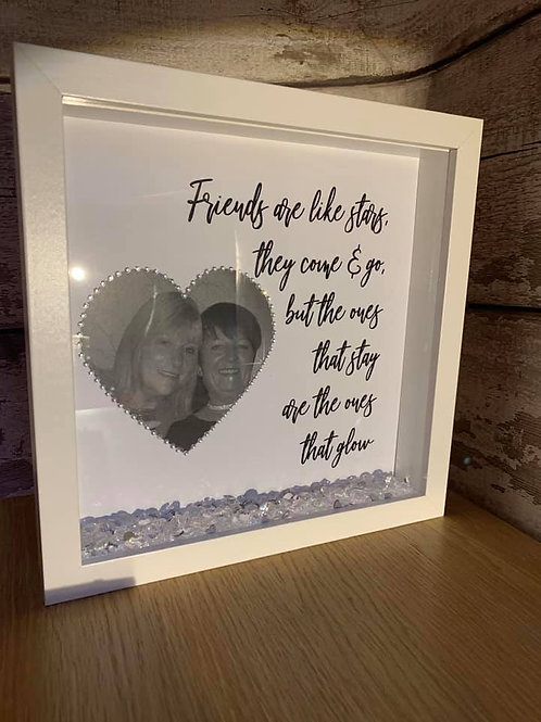 Friends are like stars personalised box frame