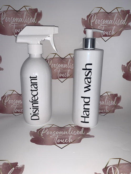 Personalised Spray and Pump Bottle Combo