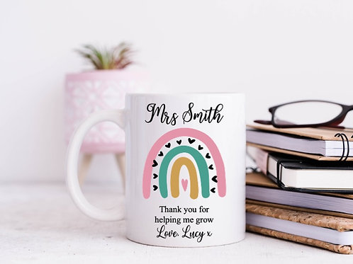 Thank you for helping me grow personalised mug