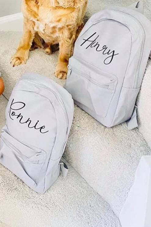 Personalised Grey Rucksack
