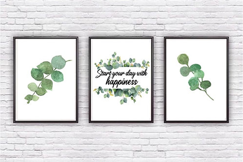 Gorgeous trio of eucalyptus prints
