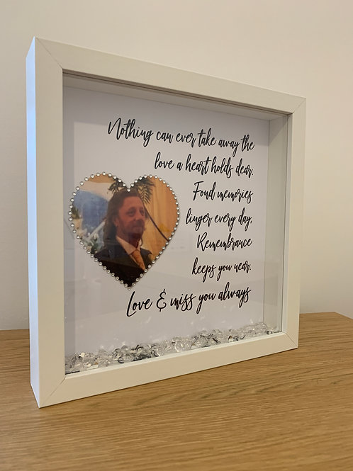 The love a heart holds personalised box frame