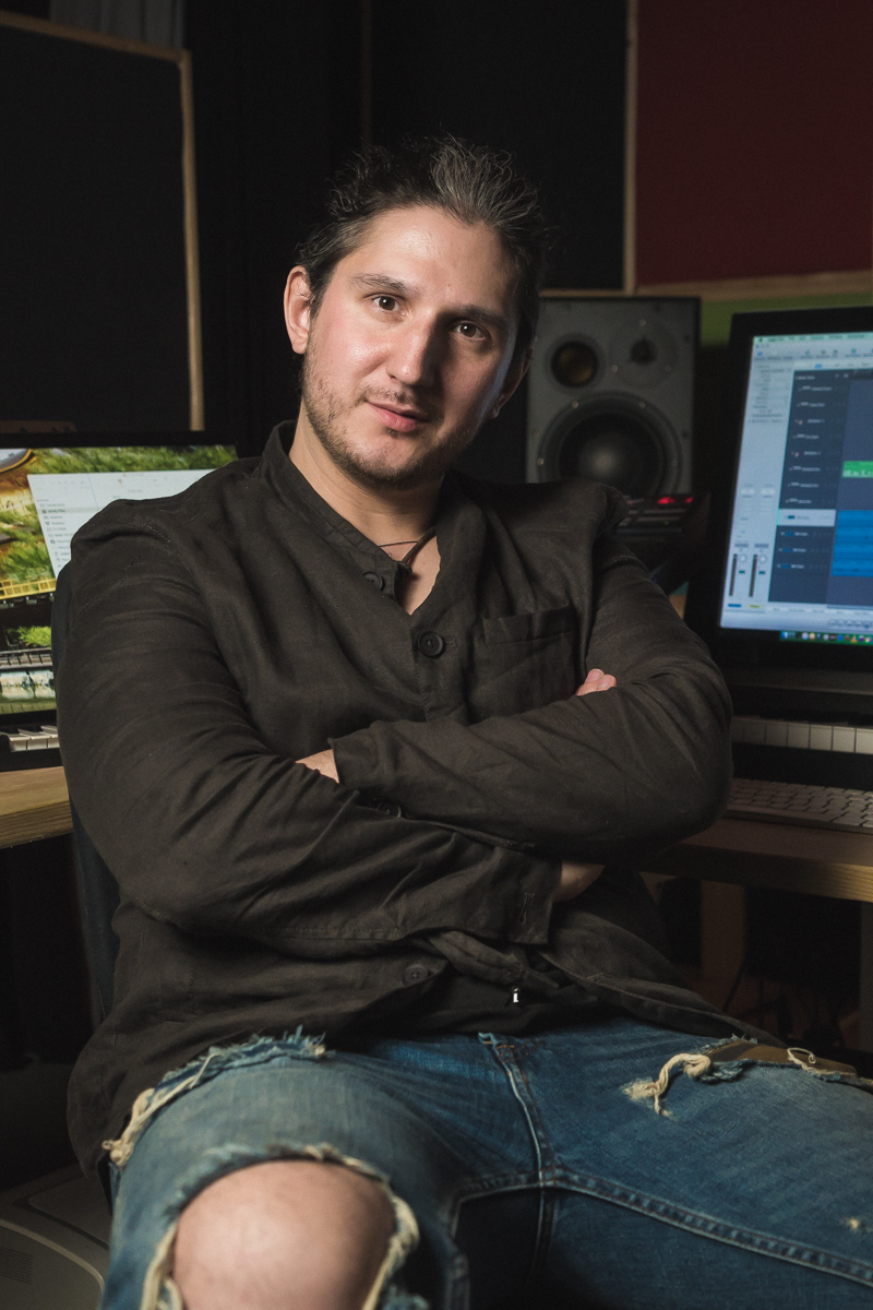 Vlad Podgoretsky  at the studio