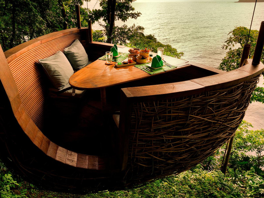 Dine in tree pod