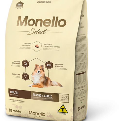 Monello Select Adulto Pollo y Arroz X 2 Kg
