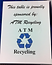ATM Recycling at Breast Cancer Awareness