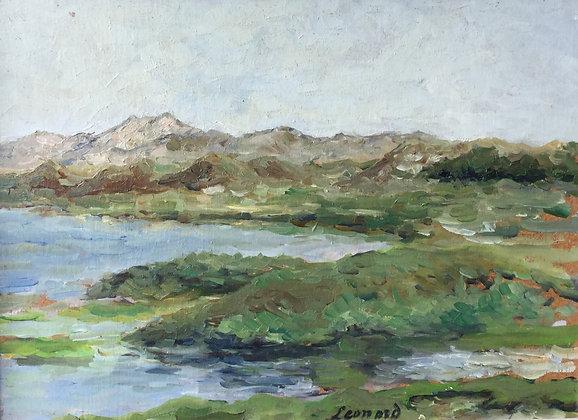 B2457, Leonard, Landschap aan het water