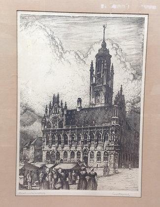 C1937-12, Louis Heymans, stadhuis middelburg, ets