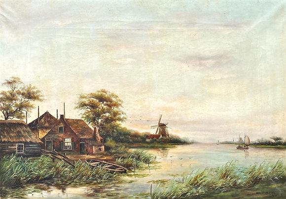 C4686, H.H. Rav, Boerderij en molens aan de vaart