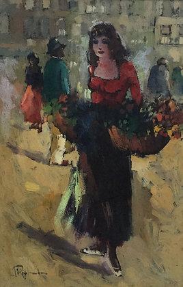 C4452, Jan Rijlaarsdam, bloemenmeisje