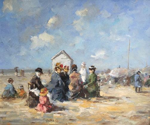 C4934, Dames op het strand