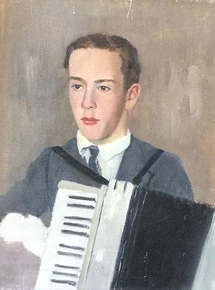 C4149-3, Jacob de Heer Kloots,portret van een accordeonist