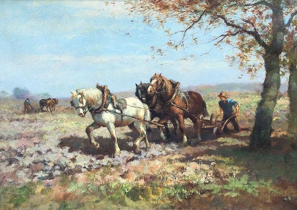 C5166, A. van der Horst, Ploegende boer