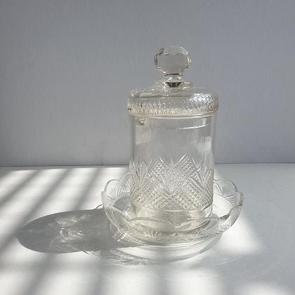 B860-3, Kristallen dekselpot, 17cm hoog