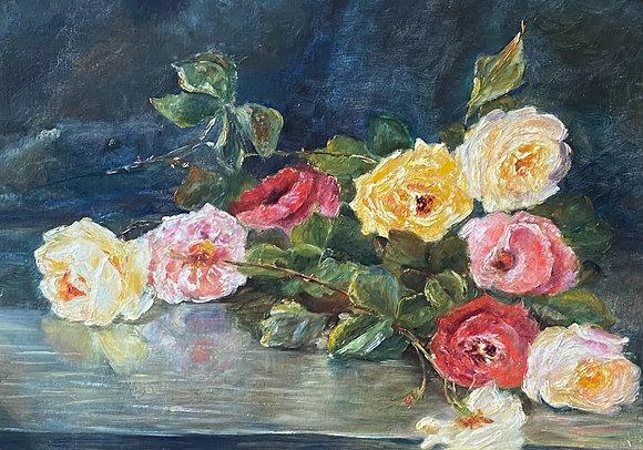 C5072-14, M. Coffin, Stilleven met rozen