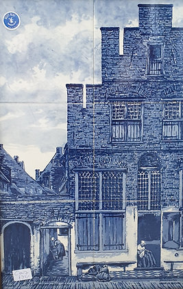 WS00213, Delft Blauw, 't straatje Vermeer