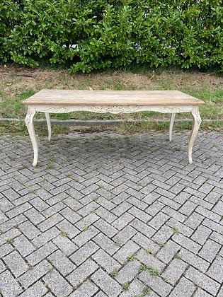WS00259, Romantische tafel, jaren 80, blad ouder