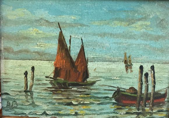 C4858-1, Vissersbootjes op het water
