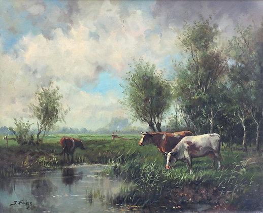 C5135-D1, Koeien in polderlandschap