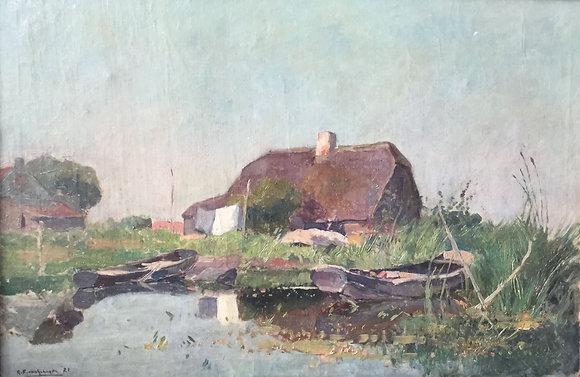 A7739, G.F. van Schagen, pramen langs de vaart