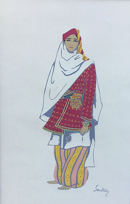 C4819-3, Susan Southby, Arab woman of dabburieh (near Nazareth)