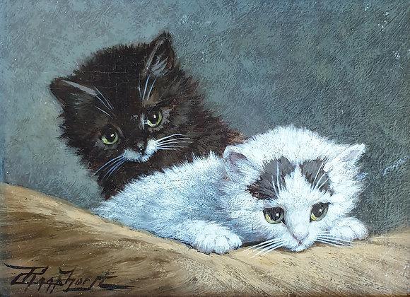C4687-1, Cornelis Raaphorst, twee kittens