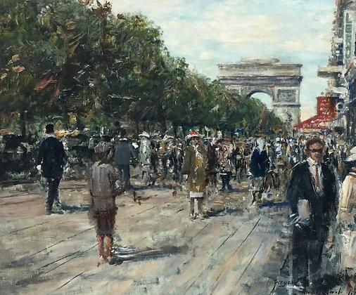 C4429-3, Meyer-Wiegand, Zicht op de Arc de Triomphe