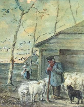 C4856-2, Schaapsherder met schapen