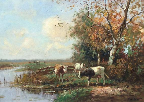 C4566, Piet Bouter, Koeien langs de vaart