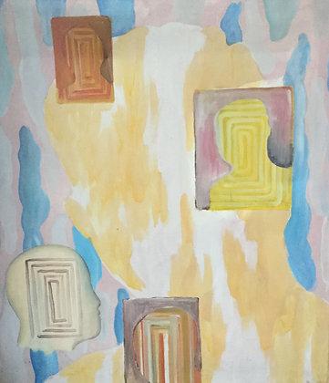 C4461-A9, Jan Rothuizen, abstracte voorstelling met koppen