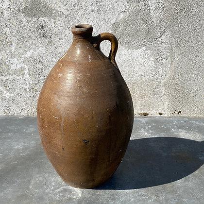 WS00071, Mooie antieke bruine waterkruik aardewerk