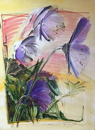 C4461-A6, Jeroen Dercksen, paarse bloemen