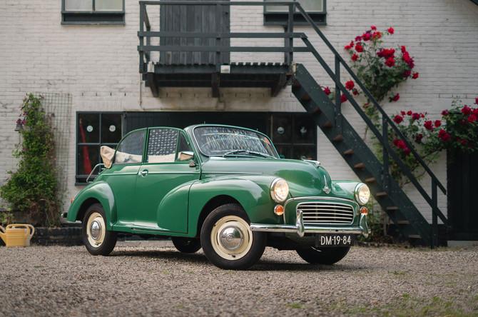 Morris Minor 1000 Tourer cabriolet, bouwjaar 1962, in onze webshop!
