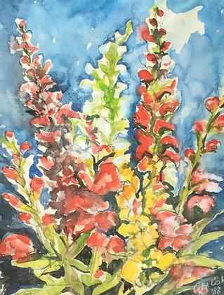 C4461-A11, Gek Cok, bloemen