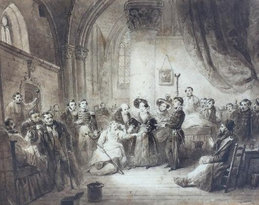 C5036, Adellijke figuren in interieur, 19de eeuws