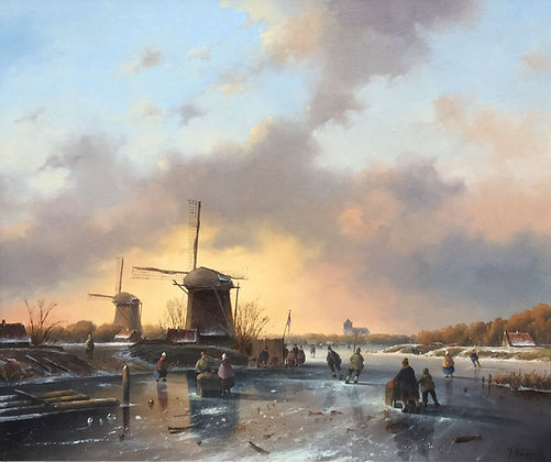 C2918, Fred Arends,IJsgezicht met molens