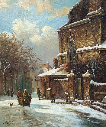 C4687-2, Stadsgezicht naar Cornelis Springer