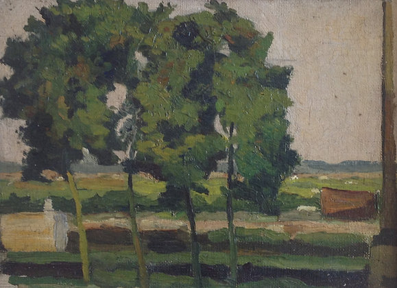 B2446, Landschap met bomen