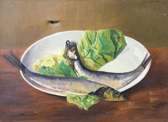 C4149-12, Jacob de Heer Kloots, Stilleven met vis