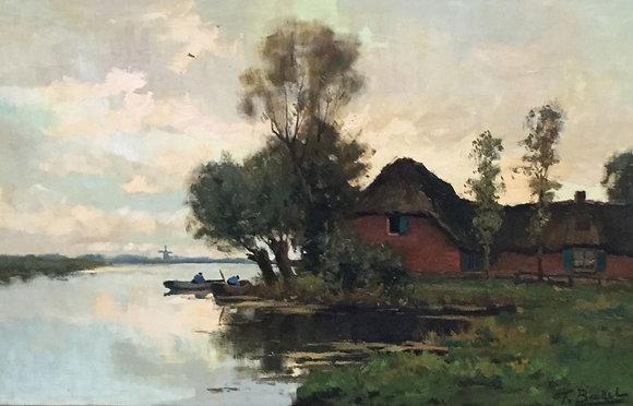 C4448-1, F. Van Boekel, Boerderij aan het water