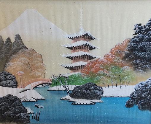 C5033-31, Aziatisch landschap in de winter