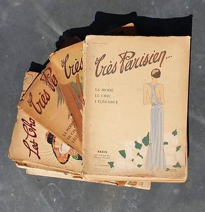 Originele Pochoirs uit Très Parisien, prijs per stuk