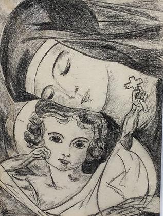 "C4833, ""JB"", voorstelling van Maria met Jezus"