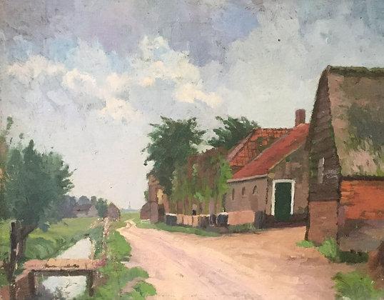 C4149-16, Jacob de Heer Kloots, Dorpsstraatje, mogelijk Kortenhoef